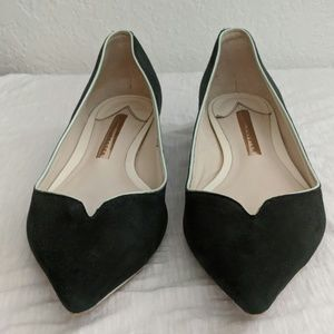 Sophia Webster Loca Suede Green Flat